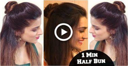 1 min tous les jours, rapide et facile, coiffure mi-longue et en duvet pour les travaux scolaires