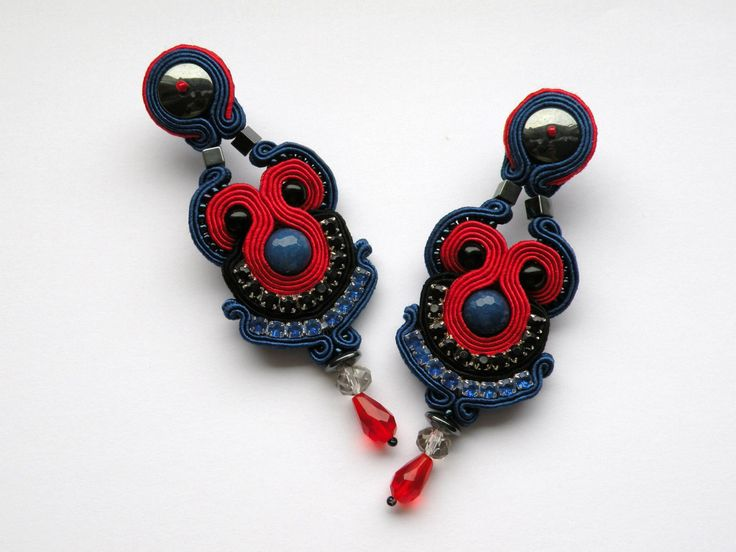 Kolczyki sutasz #sutasz #soutache #earrings