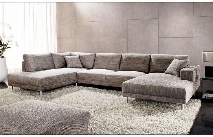 wohnlandschaft grau. Black Bedroom Furniture Sets. Home Design Ideas