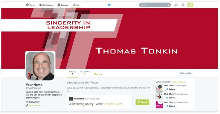 Thomas Tonkin Twitter Design - by TweetPages.com #TweetPages