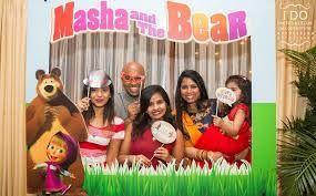 Resultado de imagen para masha and the bear birthday theme