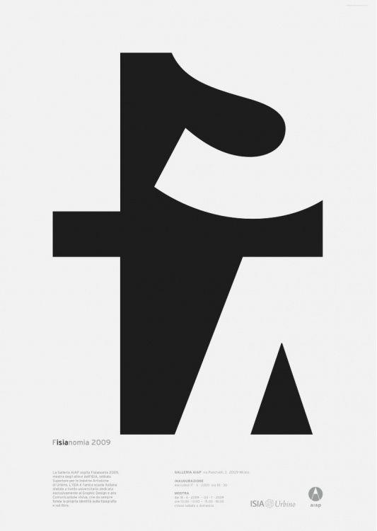 fisianomia 2009: Poster Design, Negative Space