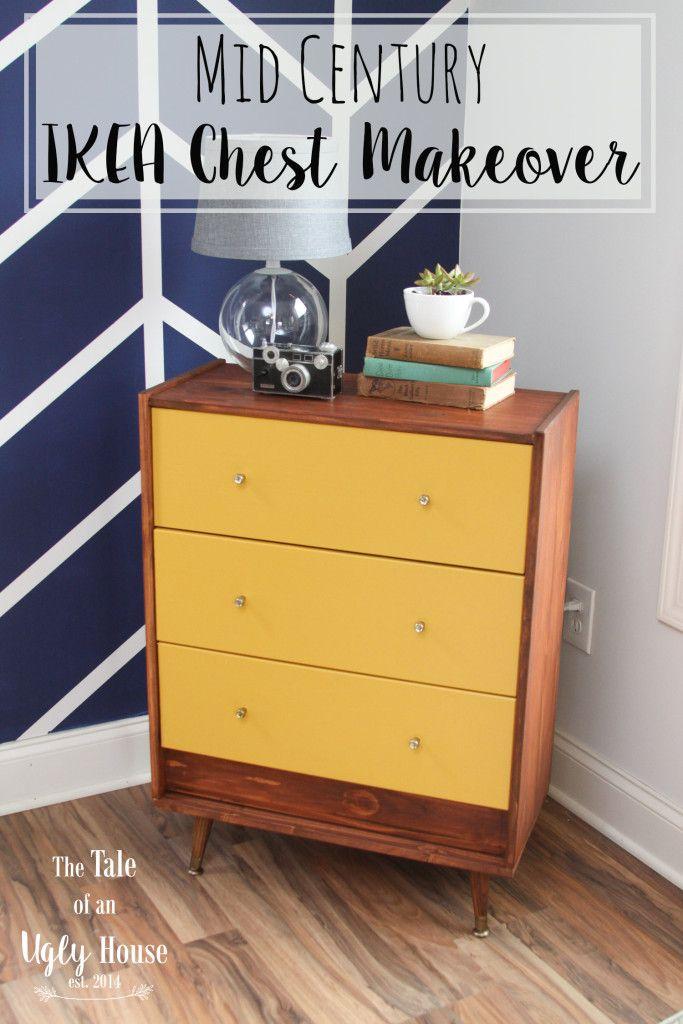 Ikea Rast chest mid-century makeover