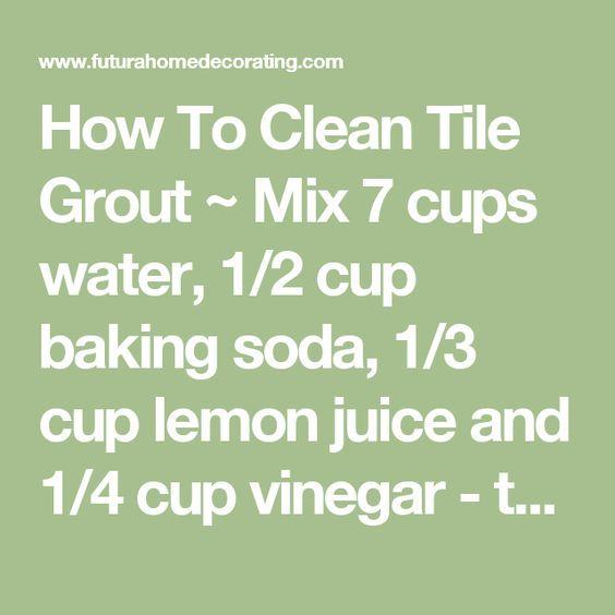 As 25 Melhores Ideias De Clean Tile Grout No Pinterest