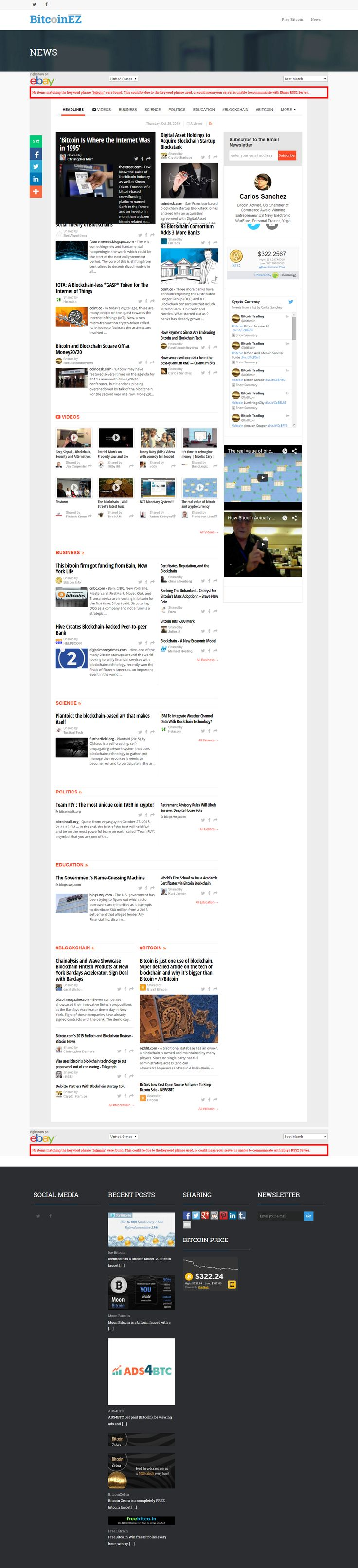 Blog website with live news feed designed by Dhrup Technologies..Hire us today to get your Websites done.. Our Website:  www.dhrup.com