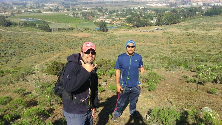Nuestros miembros del team, en Trekking cerro corazón!!