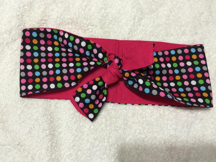 Retro Head Scarf Multicolored Polka Dot