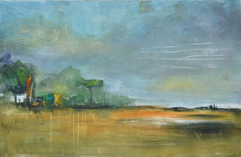 Countryside 08 140x90cm Acrylique on canvas by Doplaze