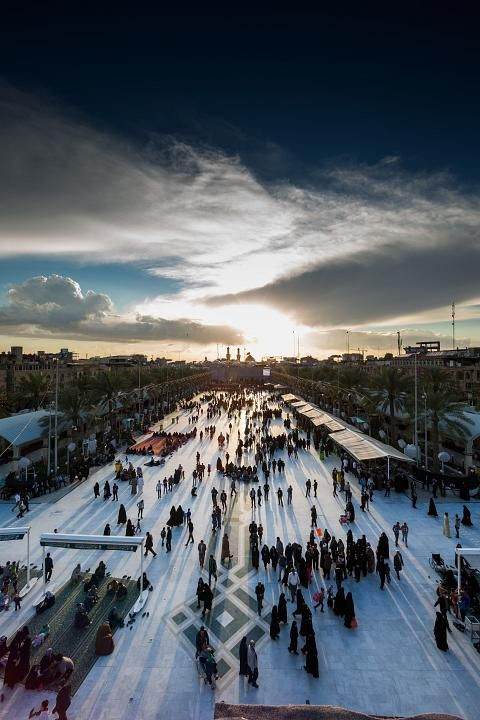He was a moon now he's the morning sun. Imam Hussein's shrine in Karbala, Iraq