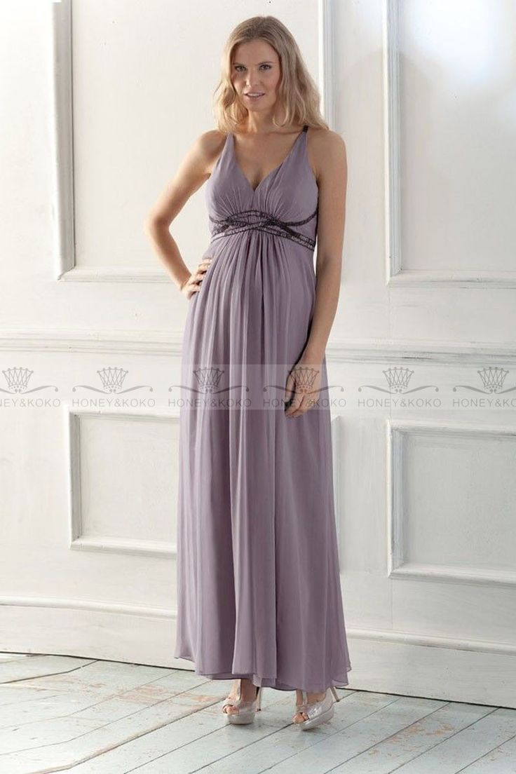 Maternity Bridesmaid Dresses Chiffon Purple