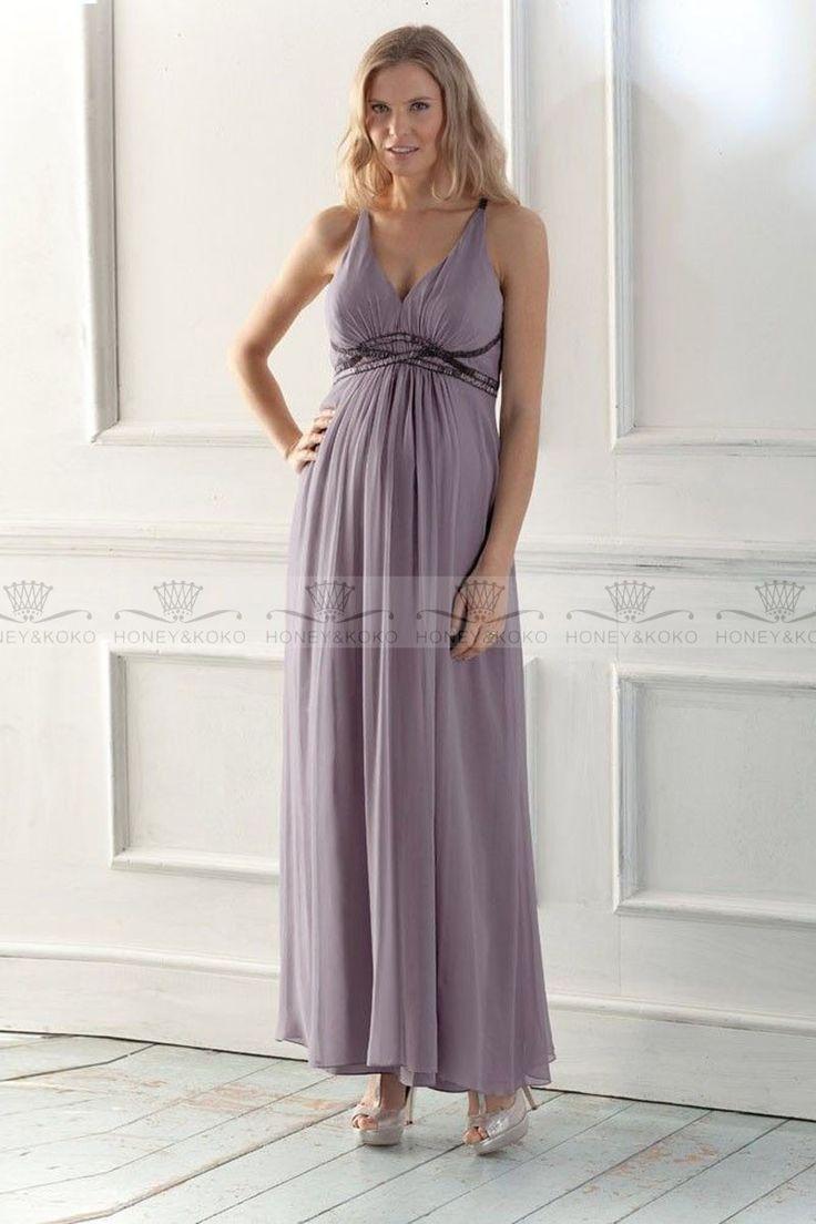 Maternity Bridesmaid Dresses Chiffon Purple
