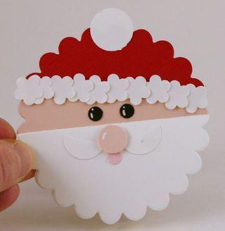 Scalloped Santa tag