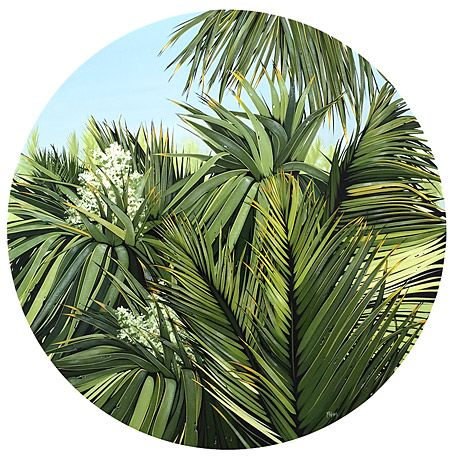 kirsty nixon nz flax, cabbage tree and nikau artist