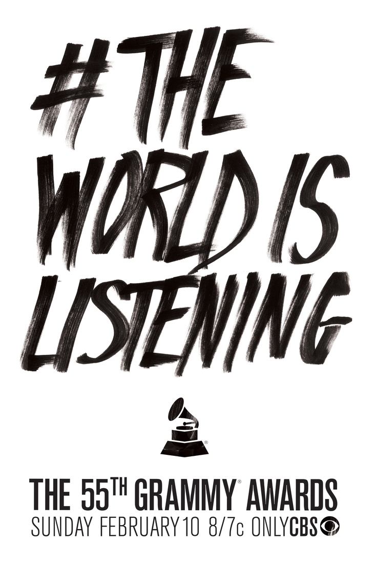 #TheWorldIsListening: 2013 Grammi, Theworldislisten Grammi, 2013 格莱美, 2013 Theworldislisten, Grammi 2013, Grammi Awards, 55Th Grammi, 1 1 2013, 2013 Grammy