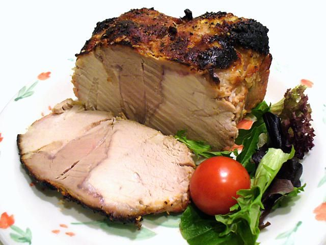 The fresh flavors of garlic, ginger, and honey give new life to traditional pork roast. Your family will thank you.