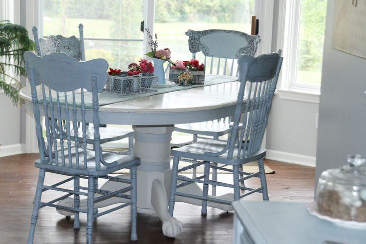 Chalk Paint Kitchen Table: Annie Sloan Chalk Paint Table And Chairs