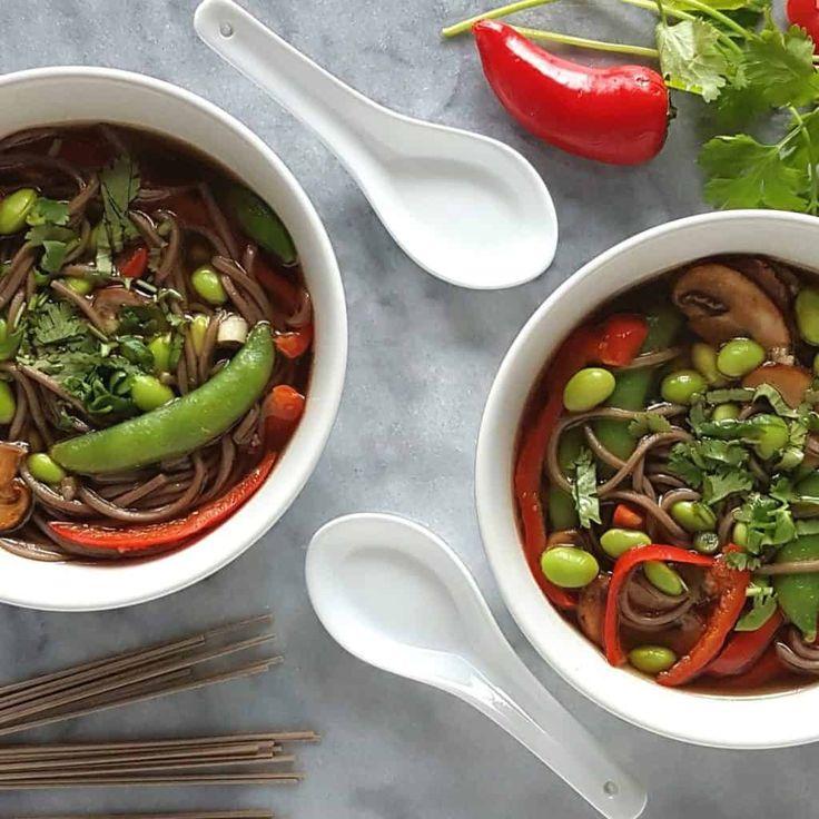 Soupe asiatique aux edamames | Caroline Cloutier Nutritionniste