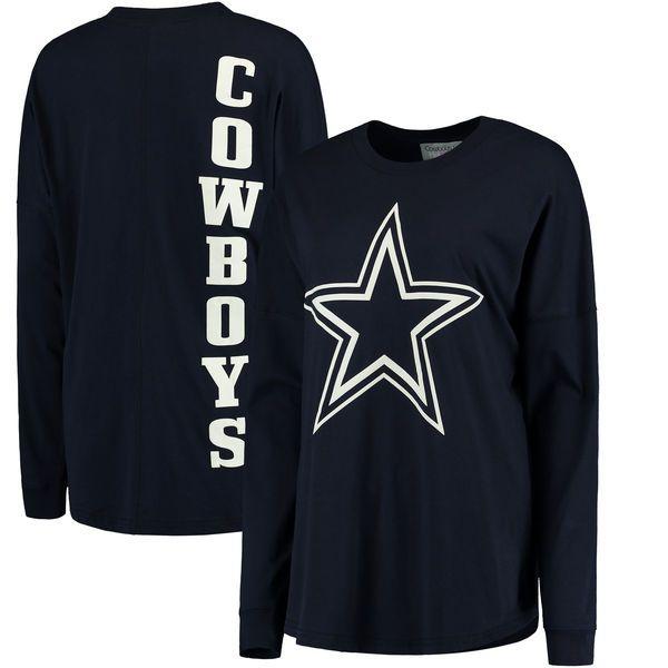 Dallas Cowboys Women's All-Star Oversized Long Sleeve T-Shirt - Navy