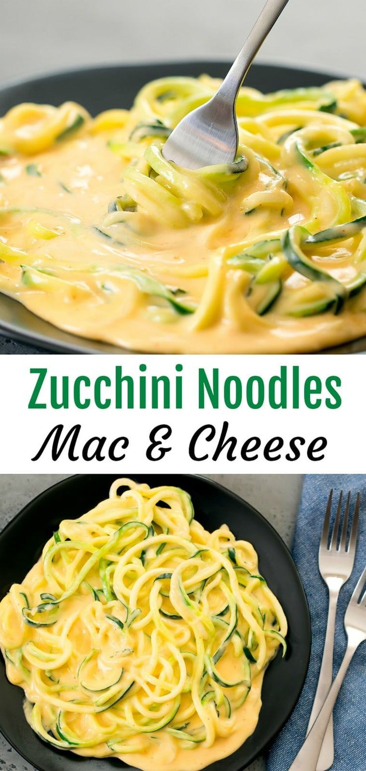 Zucchini Noodles Mac and Cheese A low carb version…