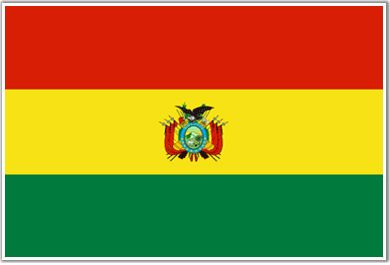 The flag of Bolivia is red, yellow, and green, which stand for there two national flowers, the kantuta and the pantuju.