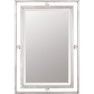 Quoizel Downtown Small Mirror Brushed Nickel White