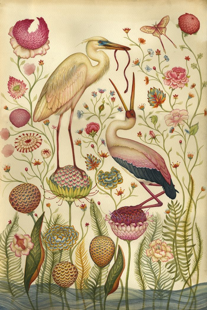 "I like this, even though it's definitely not my ""style"" (whatever that is).  Lindsey Carr's Flora and Fauna"