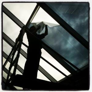 Amazing skylight shot! 3M Silver reflective window film