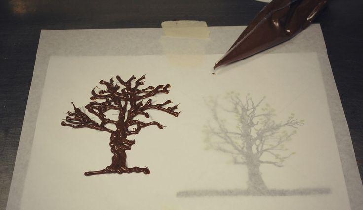 Chocolate Trees Cake Decoration : Best 25+ Chocolate tree ideas on Pinterest Decoration de ...
