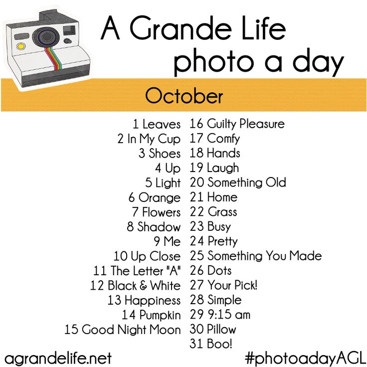 photo a day october 2012 - Great Instagram share idea