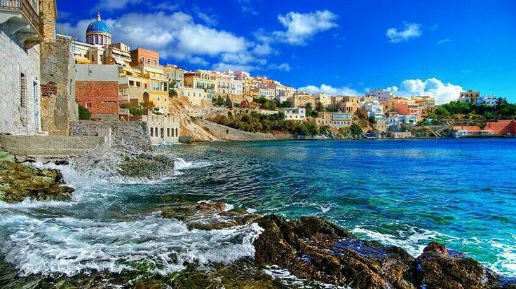 Syros, Greece   #vacation #honeymoon #travel