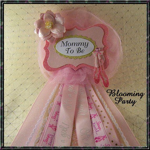 Mamá de la bailarina que ramillete bebé ducha por BloomingParty