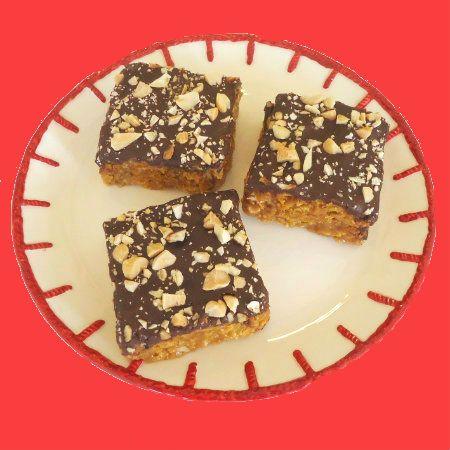 One Perfect Bite: Crispy No-Bake Corn Flake Peanut Butter and Chocolate Bars