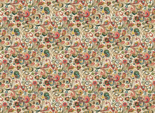 Rossi-Art-Nouveau-Flowers-Wrapping-Paper