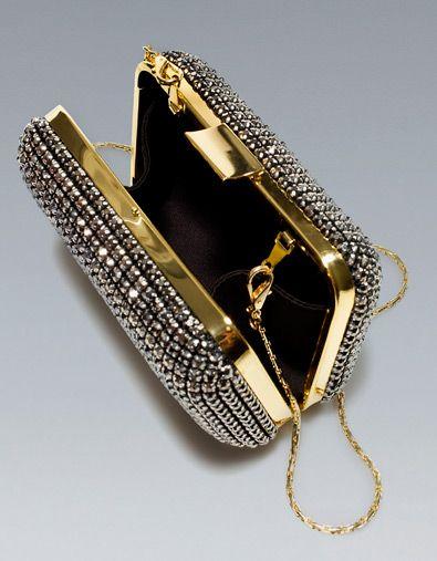 JEWELED BOX CLUTCH - Handbags - Woman - ZARA United States