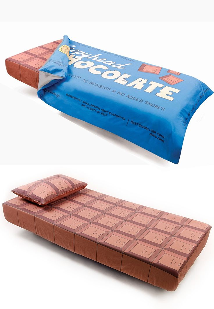 Ever wondered what are sweet dreams made of? The Chocolate Bar Bedding! - www.MyWonderList.com #bedding