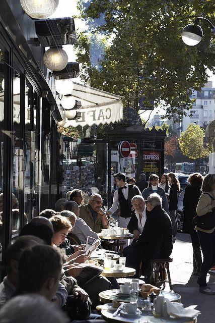 I've written many a postcard from this famous Paris sidewalk café - Café de Flore