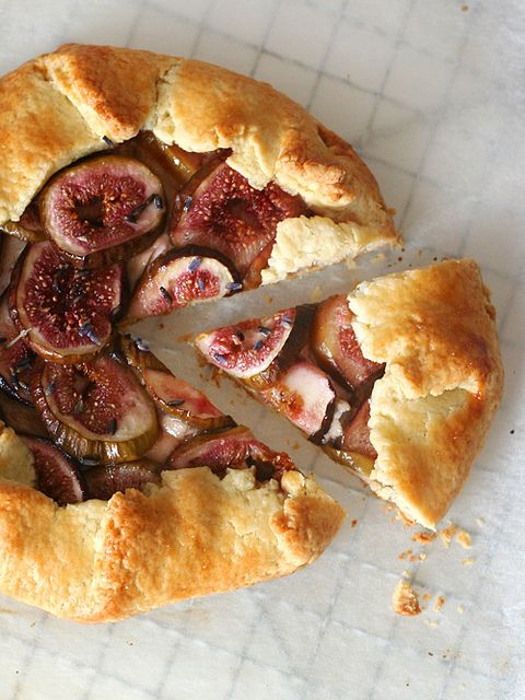 honey ricotta, fig and lavender galette
