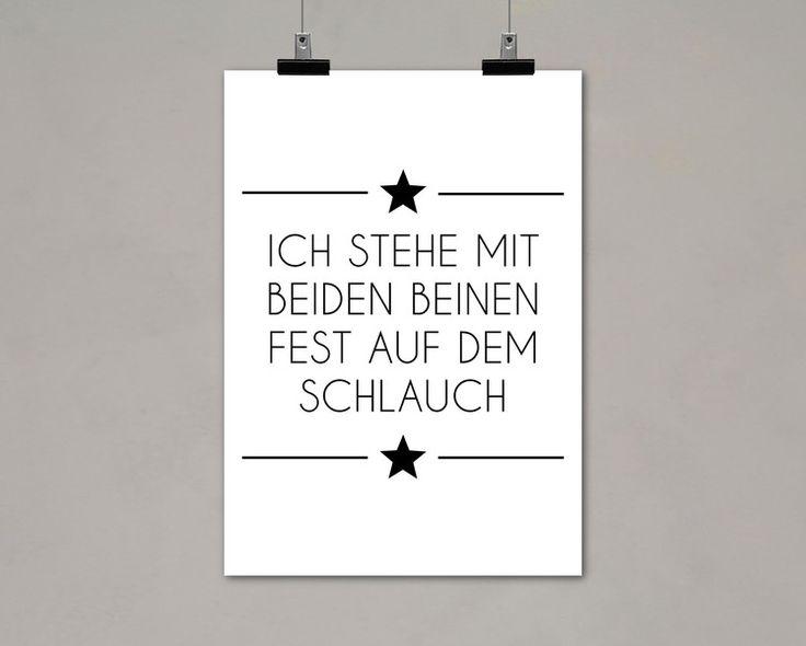 Typo/Druck Auf dem Schlauch stehen // print/poster don't get it by Einsaushundert via DaWanda.com