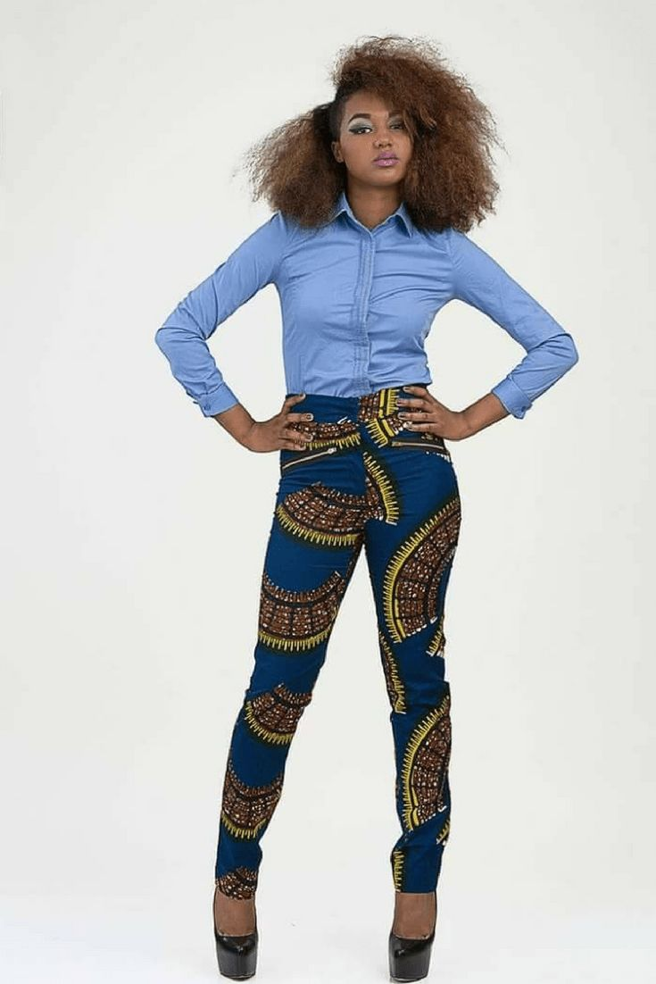 African print trousers for ladies, African fashion, Ankara, kitenge, African women dresses, African prints, African men's fashion, Nigerian style, Ghanaian fashion, ntoma, kente styles, African fashion dresses