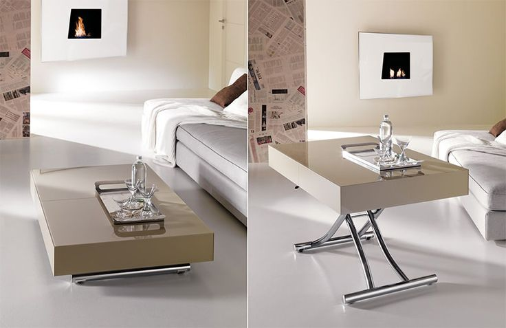 Mesinhas de centro que se transformam em mesa de jantar, cama, mesa de trabalho e muito mais - limaonagua
