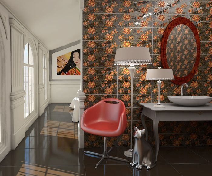 Revestimiento Arcana Tiles   Azulejo   Ceramica   revestimiento   wall tiles   bathroom   oriental   baño   reforma   reform   home