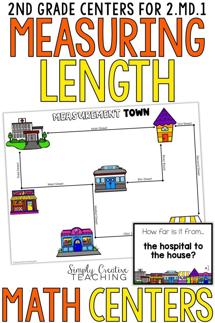 These second grade measuring length activities for Common Core standard 2.MD.1  are great math centers. …   Math measurement [ 1104 x 736 Pixel ]