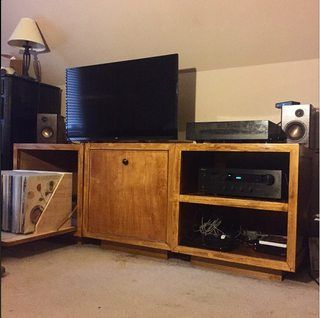 I Made Some Modular Cabinets To Store My Vinyl Collection/display My Tv And  Turntable. TurntableEntertainment CenterVinylsInternetCabinets