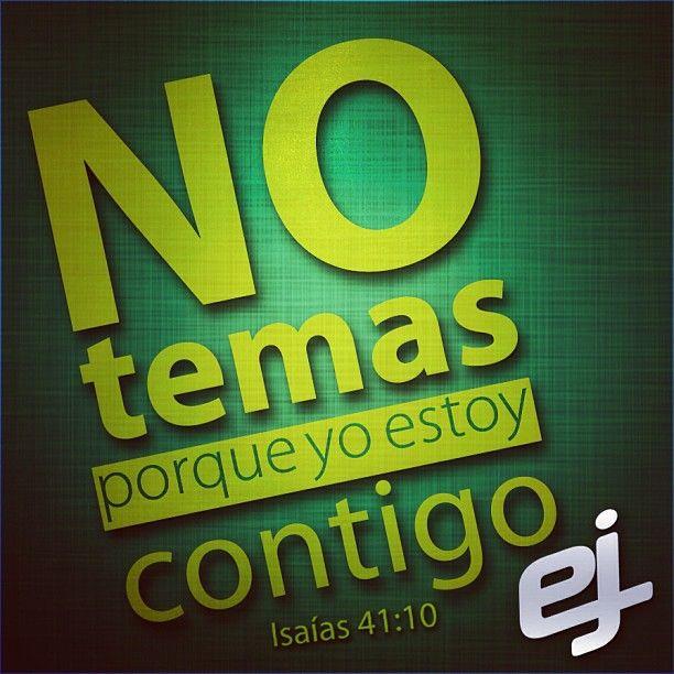 Isaías 41:10 | Versículos Bíblicos | Pinterest | Tes and Dios