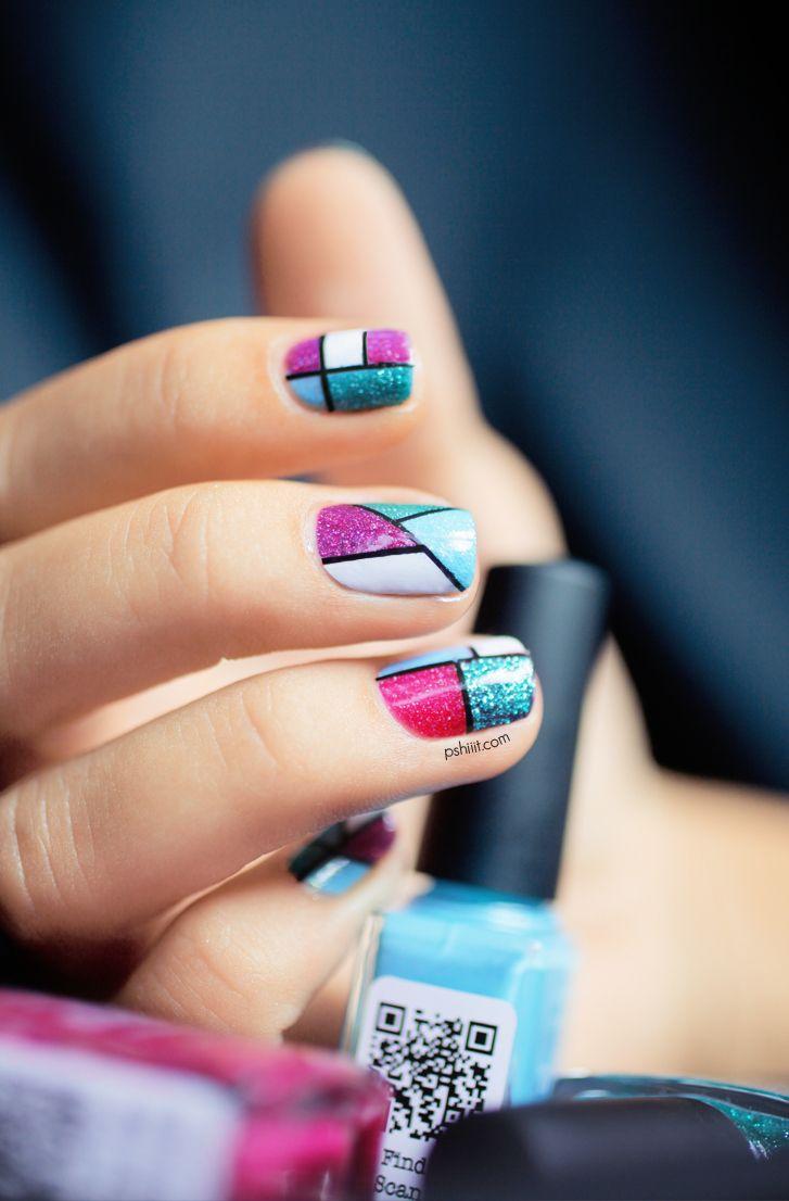 37 best geometric nails images on pinterest | make up, nail art