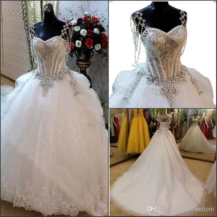 38 best blinged out wedding dresses images on pinterest for Blinged out wedding dress