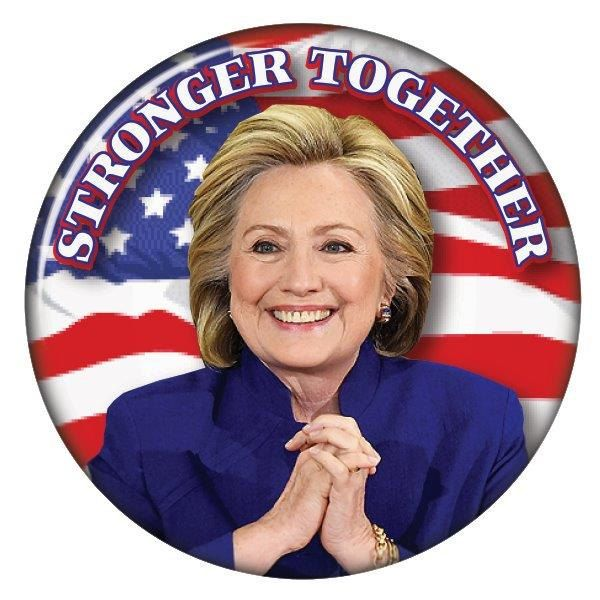 "HILLARY CLINTON Stronger Together 3"" CAMPAIGN Pin Back Button Presidential Candidate 2016 by Badgelady117 on Etsy"