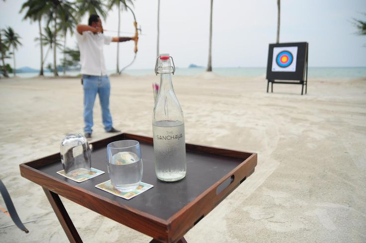 Archery is one of the traditional lawn games available for you to enjoy when you are in residence at The Sanchaya Bintan. #archery #game #traditional #TheSanchaya #Bintan
