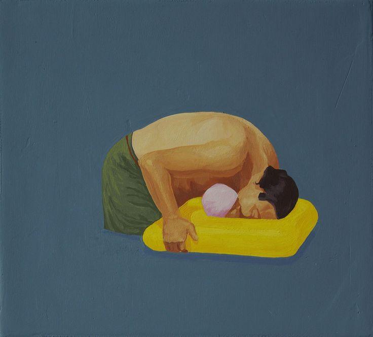Feminine & Masculine XIV, 2010, olej na płótnie, 18x20cm