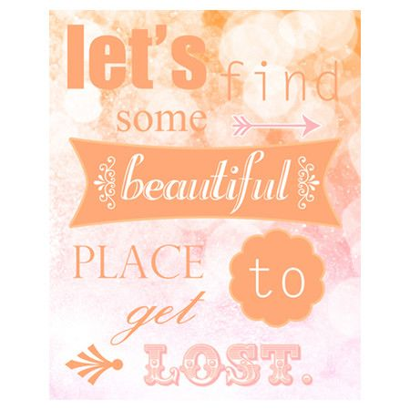 Let's Find Some Place Canvas Giclee Print at Joss & Main. 20x16$48